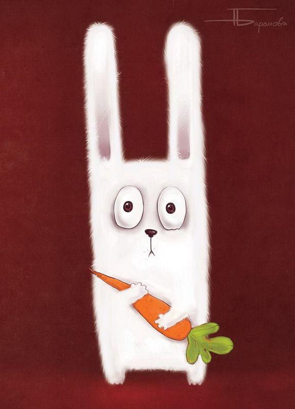 Рождение, открытки с зайцем с морковкой