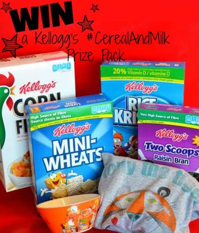 Kellogg's Canada #CerealandMilk Giveaway! Open to canada! Enter now for your chance to WIN!