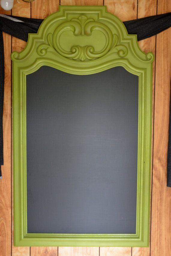 Eden Green 50 X 29 Decorative Framed Magnetic Chalkboard