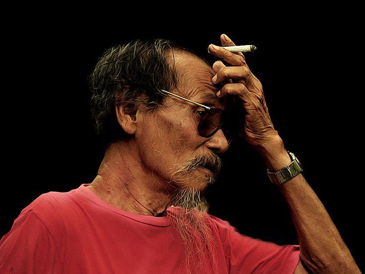 Mr. Djoko Pekik, an artist painter who lived in Indonesia Yogyakarta...Photo by 3 Joko