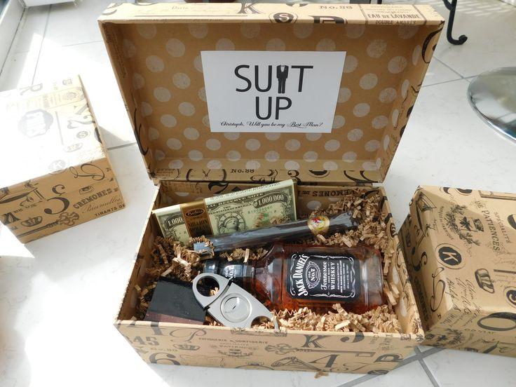 Will you be my groomsmen? Box! Jack Daniels, Cigar, Cigar ...