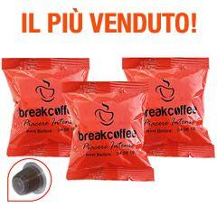 100 CAPSULE COMPATIBILI NESPRESSO BREAK COFFEE PIACERE INTENSO