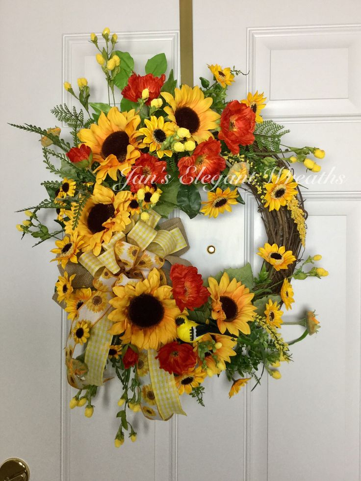 Sunflower Wreath Yellow Sunflower Wreath Summer Wreath