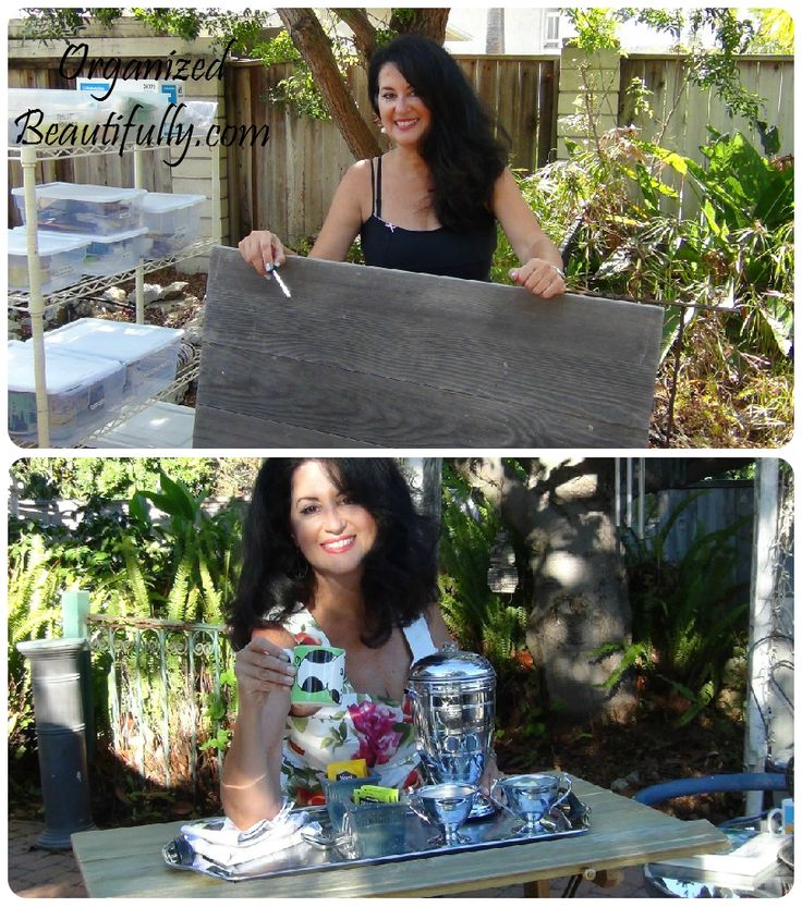 Make use of that old table you've been saving! Thalia shows how to transform an old drafting table into something beautiful. http://organizedbeautifully.com/diy-drafting-table-extreme-make-over/ #ExtremeMakeover #DIY #Furniture #SanDiego #ProfessionalOrganizer
