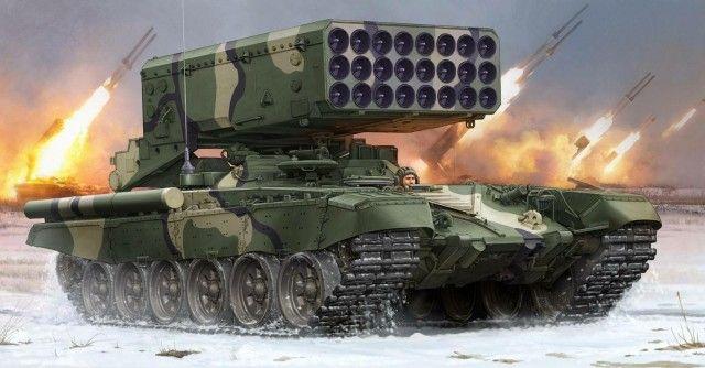 tos-1 | Boxart TOS-1 24-Barrel Multiple Rocket Launcher 05582 Trumpeter