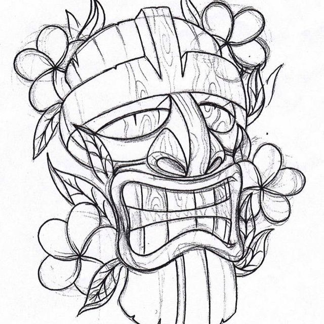 coloring pages tiki - photo#13
