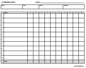 attendance sheet online