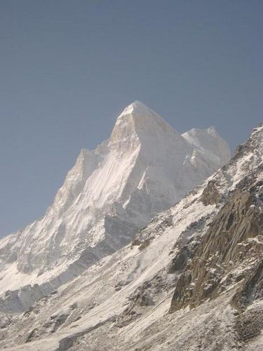 pilgrimsindia:  India04_garwhal_gomukh-mountain by thaddeus on Flickr.