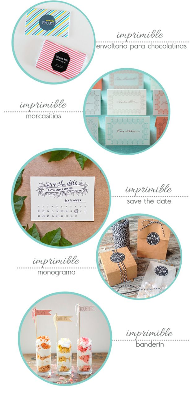 5 imprimibles para tu boda | Love Chocolate and Weddings