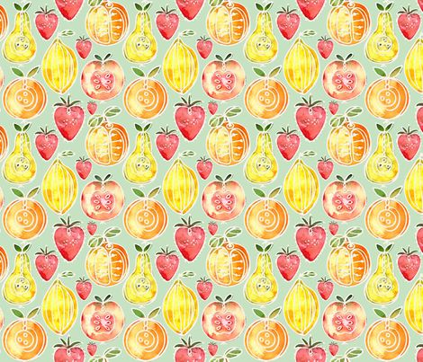 Juicy Fruit fabric by milly_dee on Spoonflower - custom fabric