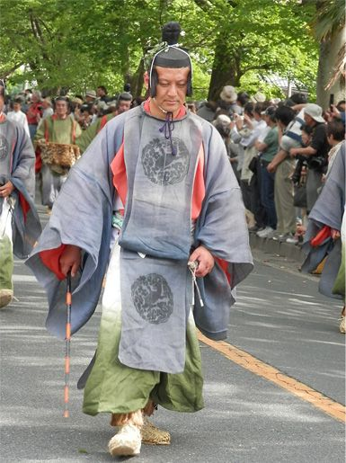 Aoi-Matsuri (Aoi-festival) in Kyoto Japan.  Heian era costume.   The Aoi Festival came to be held now for approximately 1,400 years.