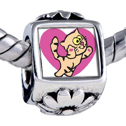 Pugster Bead Maine Coon Cat Beads Fits Pandora Bracelet Pugster. $12.49. Unthreaded European story bracelet design. Hole size is approximately 4.8 to 5mm. It's the photo on the flower charm. Fit Pandora, Biagi, and Chamilia Charm Bead Bracelets. Bracelet sold separately