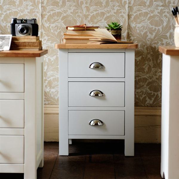 Portland Grey Bedside Table from The Cotswold Company. Free Delivery & Free Returns. Country Furniture, Bedroom Furniture, Grey Bedroom Furniture, Bedside Table, Bedside Drawers.