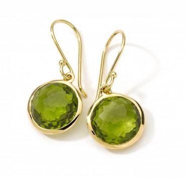 August Birthstone Report: 18K Yellow Gold Mini Lollipop Earrings Set with Peridot from Ippolita