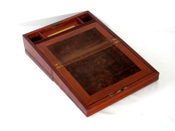 142 best images about antique boxes and storage on pinterest pill boxes cutlery trays and boxes - Wood lap desk with storage ...