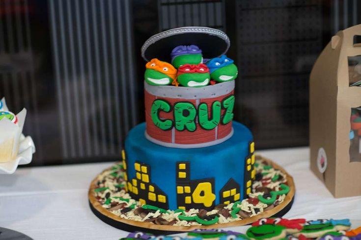 CRUZ'S 4TH BIRTHDAY NINJA TURTLE PARTY | CatchMyParty.com