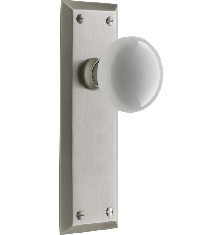 davis interior door set classic porcelain knob door set c5542