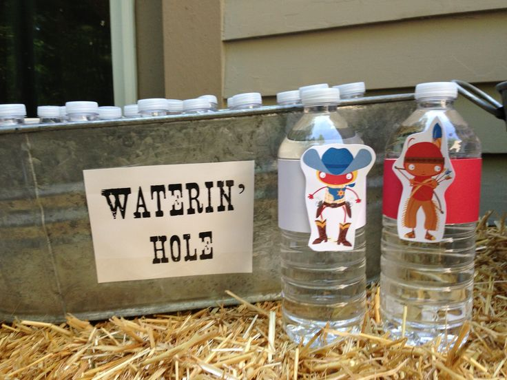 Watering hole cowboy party