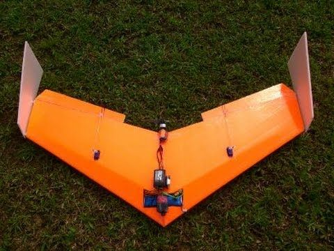 Build Super Simple Flying Wing ( delta wing ) RC - High Speed - (Tiko V3)