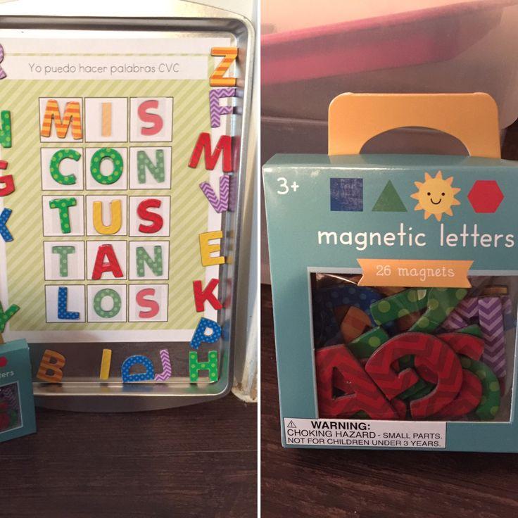 Actividades en español con letras magnéticas. #duallanguage #primerobilingüe https://www.teacherspayteachers.com/Product/Actividades-para-letras-magneticas-2717333