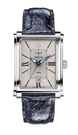 Cuervo y Sobrinos 1016.1I Men's Watch Prominente Clasico Quartz Steal Dial Ivory Swiss Made
