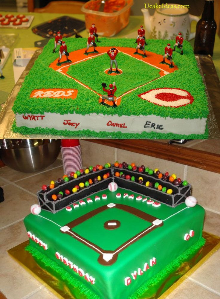 Home Run of Baseball Cake Ideas, Baseball Field Cake Ideas