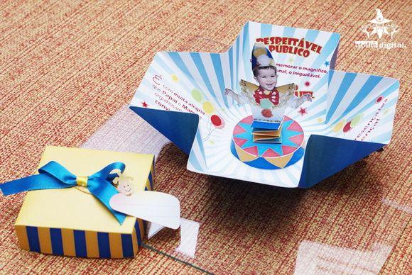 Convite - Caixa Mágica Arlequim