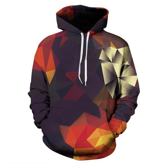Headbook Men/Women Hoodies With Hat Hoody Print Color Blocks Autumn Winter Thin 3d Sweatshirts Hooded Hood Tops