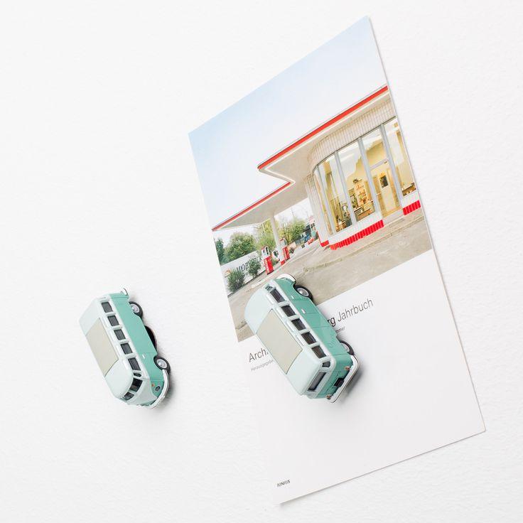 The Design Gift Shop - CORPUS DELICTI   VW Bus Samba Fridge Magnet   Turquoise, $34.90 (http://www.thedesigngiftshop.com/corpus-delicti-vw-bus-samba-fridge-magnet-turquoise/)