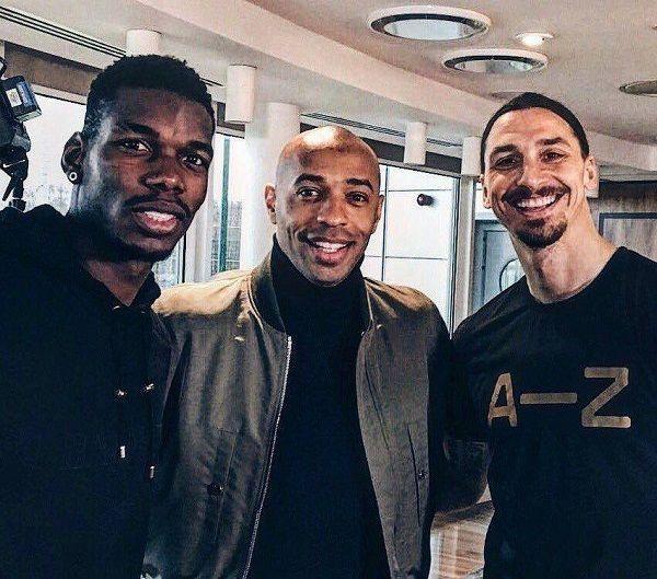 Thierry Henry z fanami Paul Pogba Zlatan Ibrahimović #football #soccer #sports #sport #pilkanozna #futbol #zlatan #pogba #henry