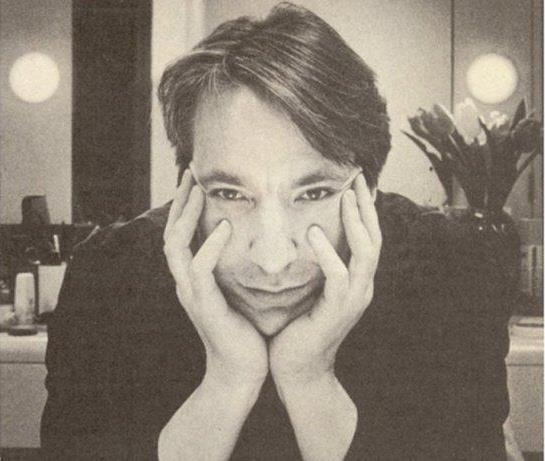 1985 - This is a professional photo of Alan Rickman taken by Derek Ridgers in London, England.