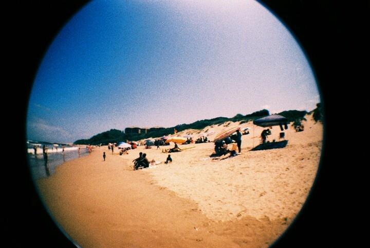 Trafalgar Beach from my fisheye's point of view.