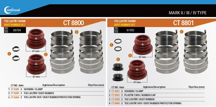 For Mark 1 3 4 Type Caliper Repair Kits Dust Rubber Sets