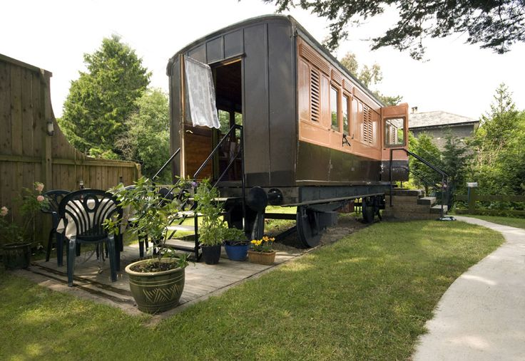 "An old ""luggage van""...rail car...converted to a wonderful tiny living space.  Awesome! Be sure to click through and look at the interior!  Double Awesome!   LINK:  http://tinyhouseswoon.com/old-luggage-van/"