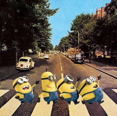 17 best images about art parodies abbey road on pinterest - The simpsons abbey road wallpaper ...