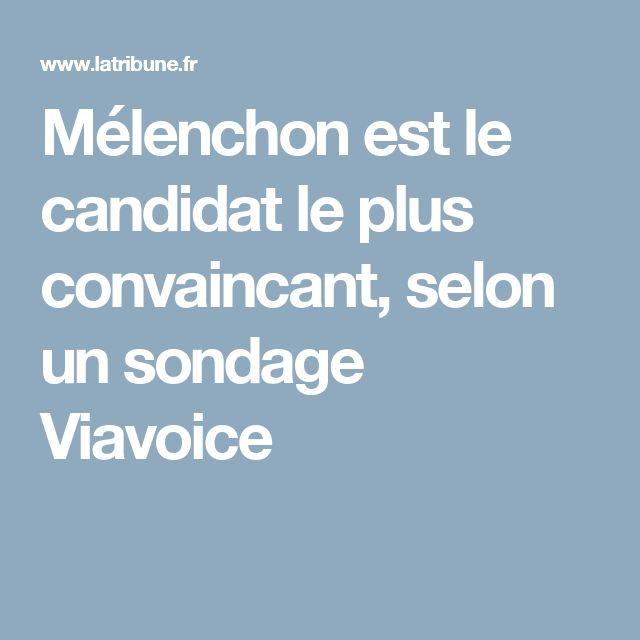 Mélenchon est le candidat le plus convaincant, selon un sondage Viavoice