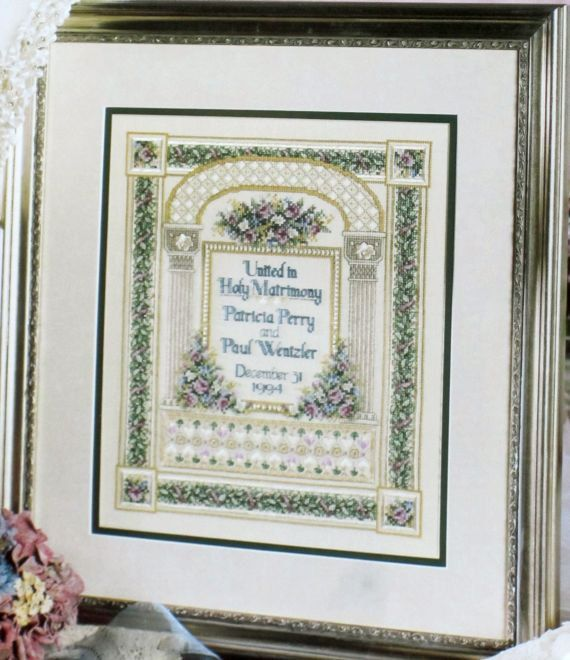Best needlework wedding samplers images on pinterest