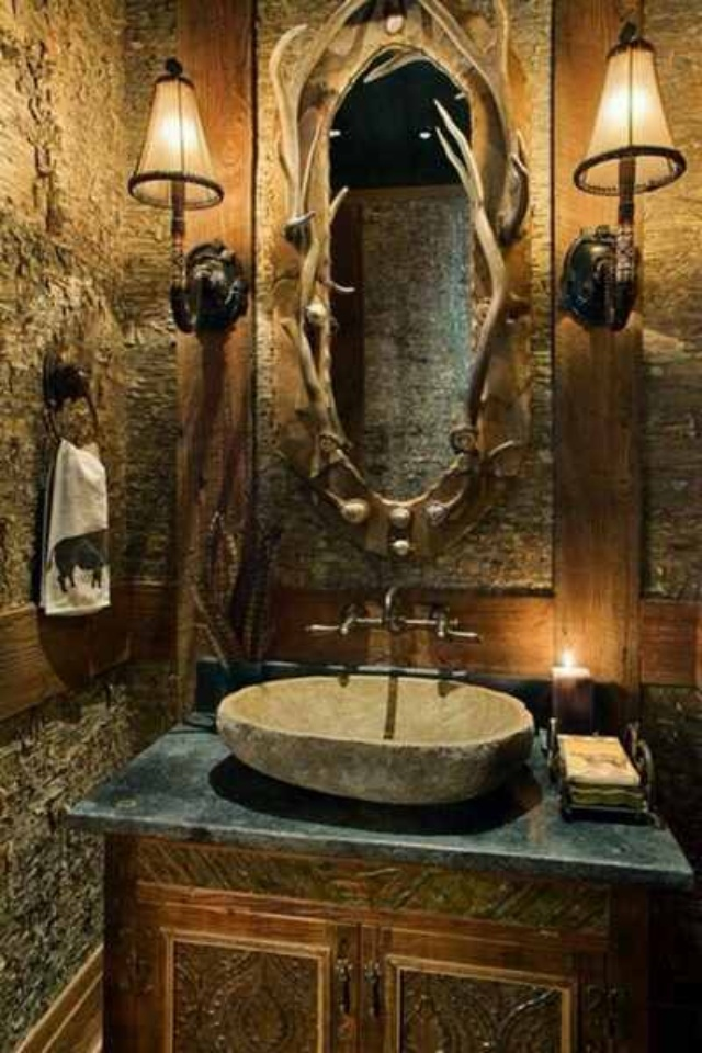 Best Home Decor Images On Pinterest Cabin Decorating Home - Outdoor themed bathroom decor