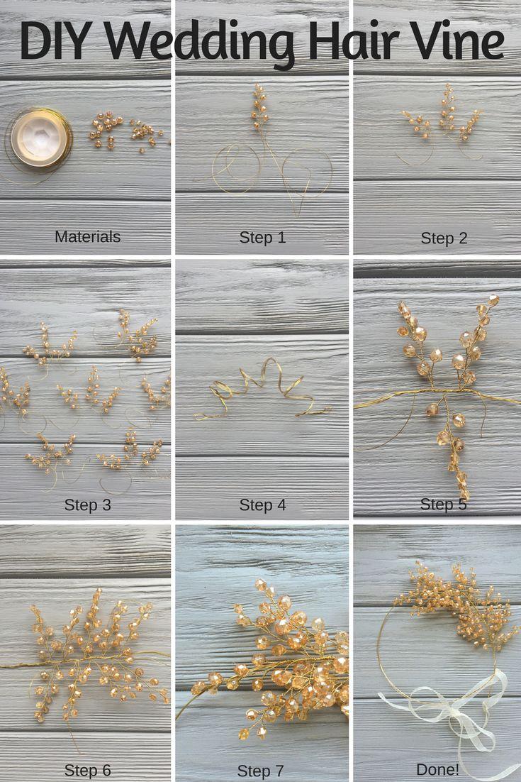 DIY Hochzeit Haar Rebe oder wie Sie Ihr eigenes wunderschönes Haarteil machen. Nicht mal…   – Wedding Hair Pieces