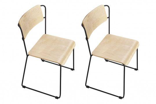 Chaise Industrielle Metal Et Bois Modele Mara Hellin En 2020 Chaise Industrielle Chaise Metal Chaise