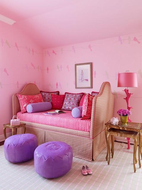 Meer dan 1000 idee n over roze slaapkamers op pinterest roze slaapkamerdecor roze beddengoed - Roze meid slaapkamer ...