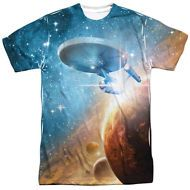 Star Trek USS Enterprise Picture Final Frontier 1-Sided Print Poly Shirt S-3XL