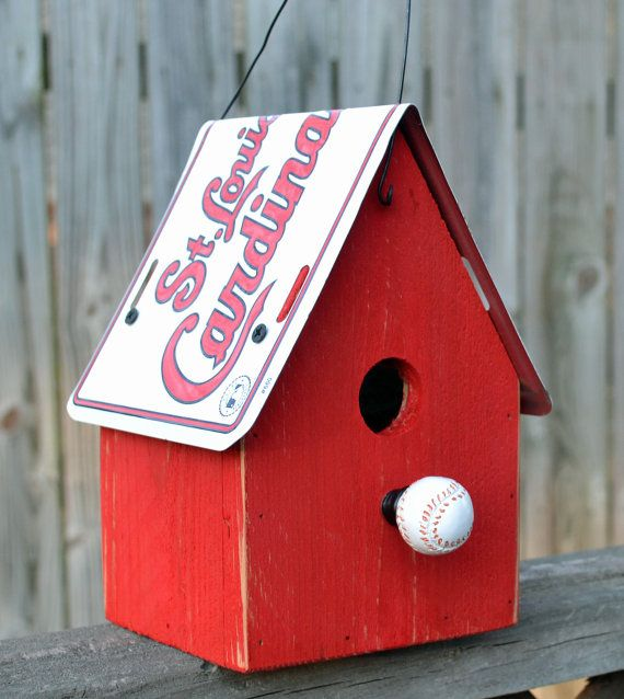 Rustic Birdhouse St Louis Cardinals Birdhouse by ruraloriginals