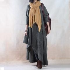 Autumn Winter Soft Loose Sweater Dress Gown - Free size fit for S/M/L(US 8-14)…