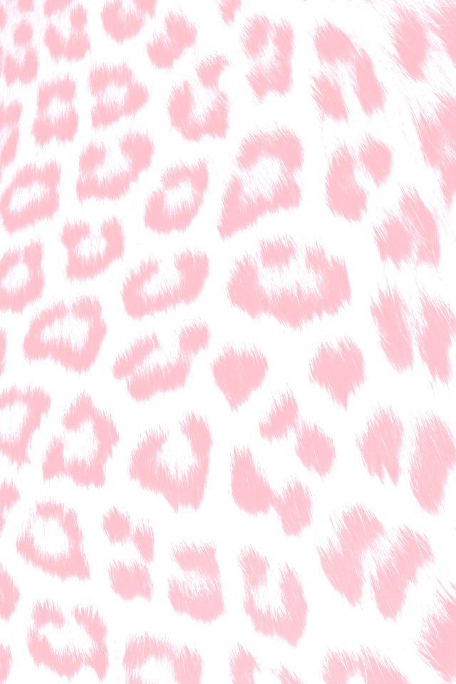 Pink Leopard Print iPhone Wallpaper