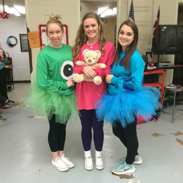 Boo, Sully, and Mike Wazowski for Cartoon Spirit Day