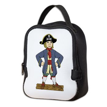 Cute Pirate Lad Neoprene Lunch Bag