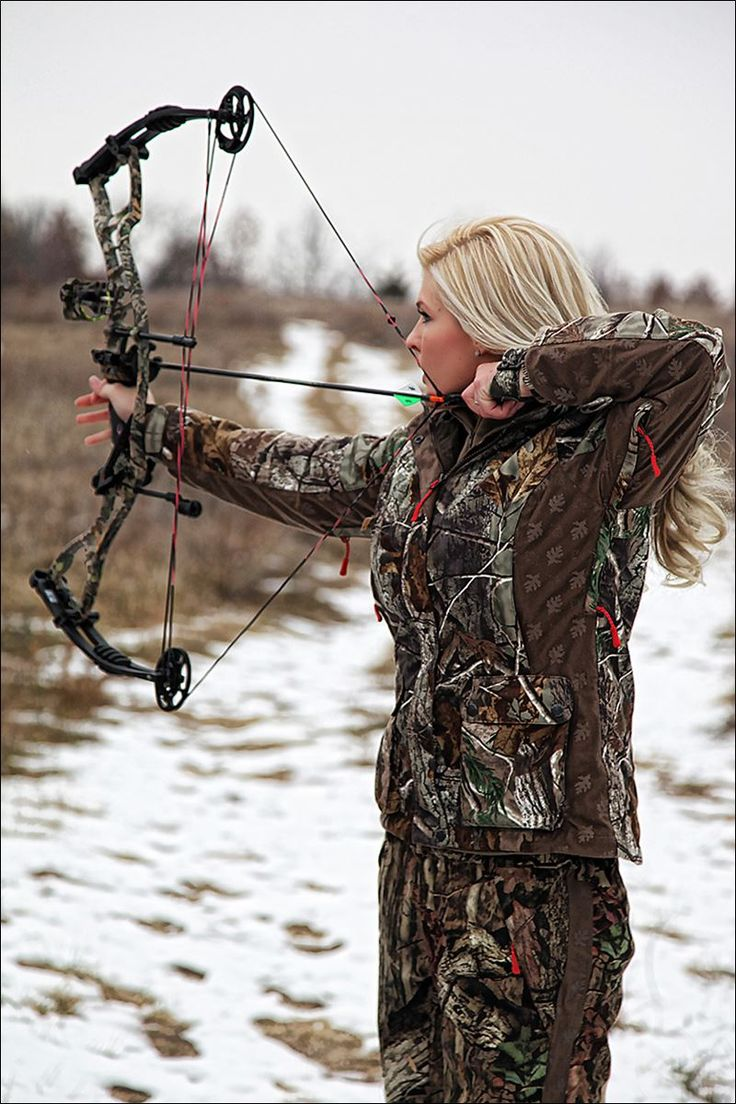 love it. bow hunting. girls who love the outdoors