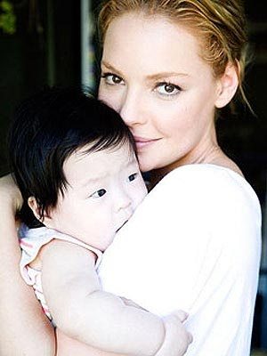 Katherine Heigl and daughter
