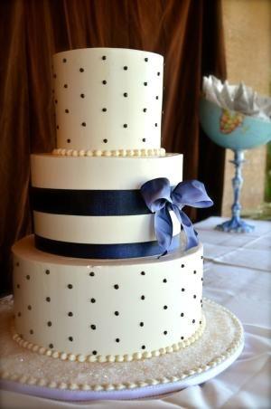 royal blue wedding cake by harriett